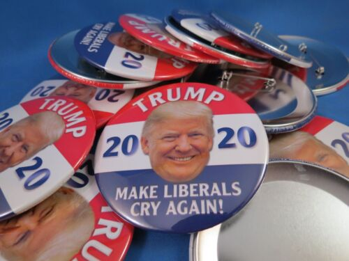 """Details about  /WHOLESALE LOT OF 21 TRUMP BUTTONS 3/"""" MAKE LIBERALS CRY AGAIN 2020 GOP Photo USA"""