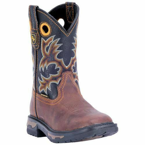 Dan Post Men's Western Cowboy Leather Boots DPC3690 Youth BROWN BLACK