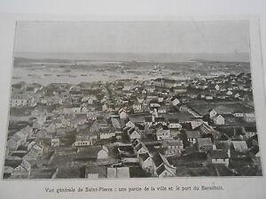 Vue-generale-de-St-Pierre-et-Miquelon-Port-Barachois-Image-Print-1923