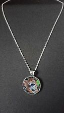 """Jaguar Big Cat Pendant On 18"""" Silver Plated Fine Metal Chain Necklace Gift N476"""