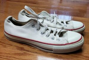 0b932957308a Rare Vintage 80 s Converse All Star White Low Top Canvas OG MADE IN ...