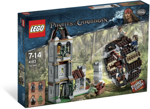 2011 LEGO RETIRED PIRATES OF THE CARIBBEAN 4183 THE MILL, RARE SET, NEW & SEALED
