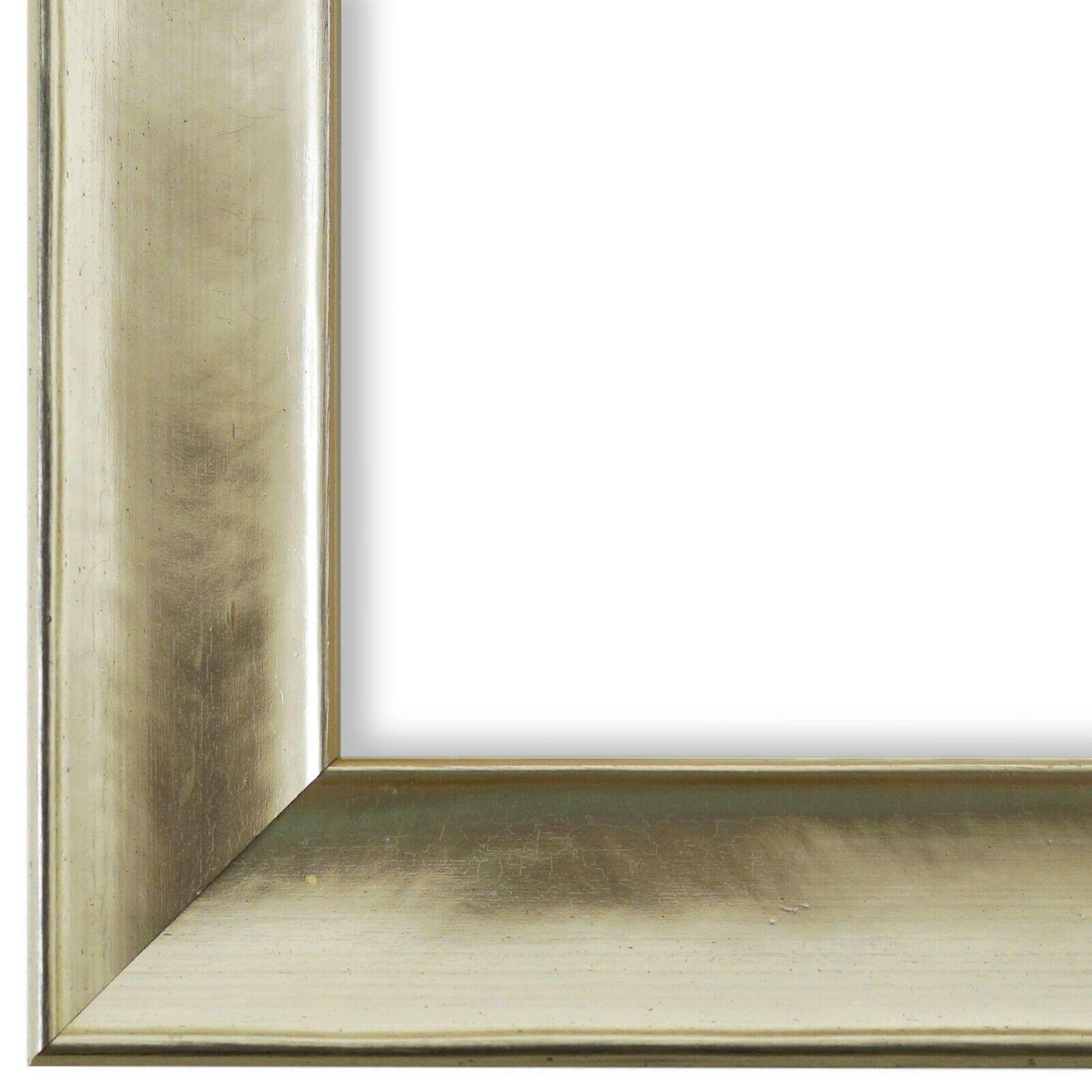 Bilderrahmen Matera Silber - 60x70 60x80 60x90 70x70 70x80 70x90 70x100