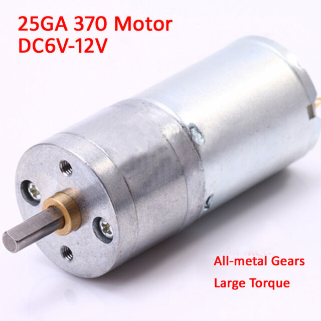 DC 9V 12V 7RPM Low Speed Auto Parts Mute High Torque Electric Gear Box Motor