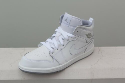 640734-112 Jordan Little Kids Jordan 1 Mid BP  white wolf grey
