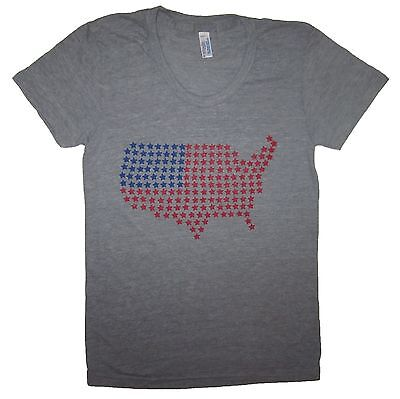 98dff53fd womens USA star america t shirt funny graphic tee 4th july cute red white  blue