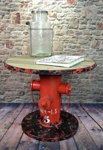 beistelltisch couchtisch hydrant metall vintage industrie look loft lv5023 ebay. Black Bedroom Furniture Sets. Home Design Ideas