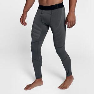 Nike Pro Hyperwarm Aeroloft Men s Training Tights L Black Gray Gym ... 8fe99eae42da6