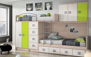 Etagenbett Mit Viel Stauraum : Design kinderzimmer mit hochbett etagenbett xxl kleiderschrank