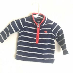 e642309c2257 Carter s Boys Long Sleeves Fleece Shirt Size 6 Months A60