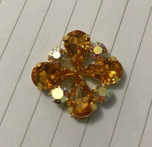 Jaune Fleur Forme Gem Rhinestone Trim x10