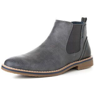 Alpine-Swiss-Mens-Nash-Chelsea-Boots-Snakeskin-Ankle-Boot-Genuine-Leather-Lined