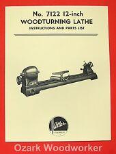 Atlas 7122 Wood Lathe Instruction Amp Parts Manual 0027
