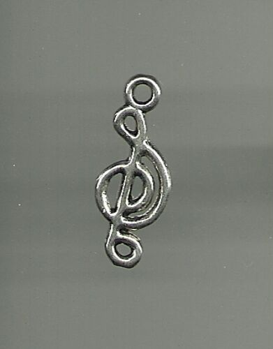Silver color Quarter Note Treble Clef Music Charm for Bracelet  Necklace Jewelry
