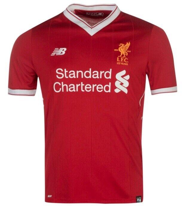nuovo Balance FC Liverpool Heim Casa Bambini Maglia Jersey Bianco Rosso nuovo