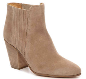 Size 8.5 Kenneth Cole Maci Light Brown Suede Heel Ankle Boots Womens shoes