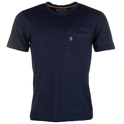 Penguin Original Men's Tetra T Shirt Navy Blue Wash Small