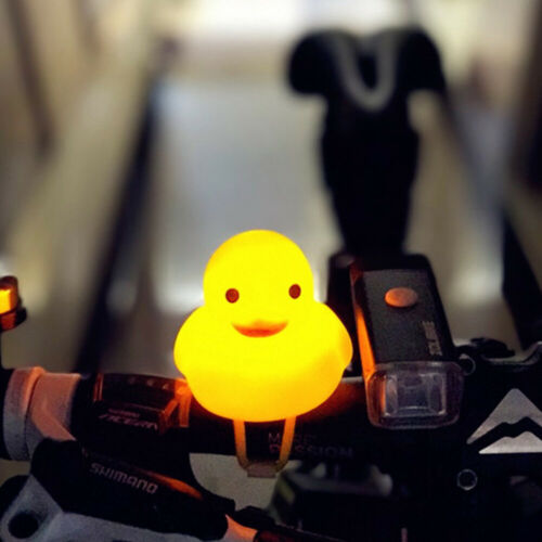 Bike Horn Bicycle Light Animal Shape Bicycle Bell Squeeze Rubber Duck Toys CDIY
