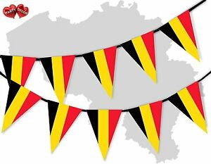 Belgium-Full-Flag-Patriotic-Themed-Bunting-Banner-15-Triangle-flags-National