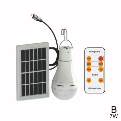 Outdoor Camping RC Solar Lamp Bulb Waterproof Panel Emergency Tent Lantern