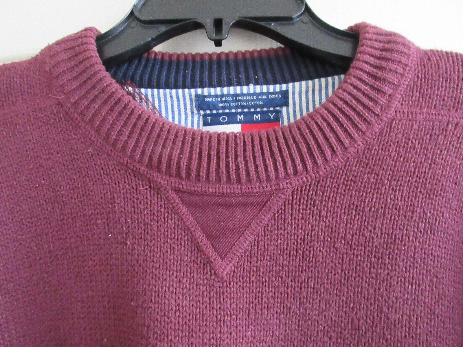 Mens Sweater , Tommy Hilfiger , L , Purple / Wine , Pr