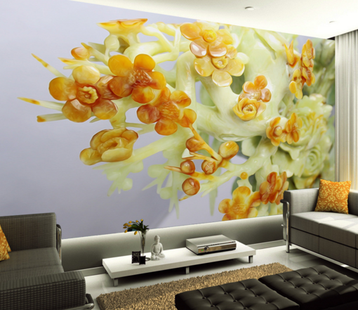 3D Petal Tree Tree Tree Statue Wallpaper Murals Wall Print Wallpaper Mural AJ WALL AU Kyra 5bfef7