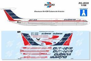 Revaro Decal IL-62M Cubana de Aviacion Veb Plasticart 1/100