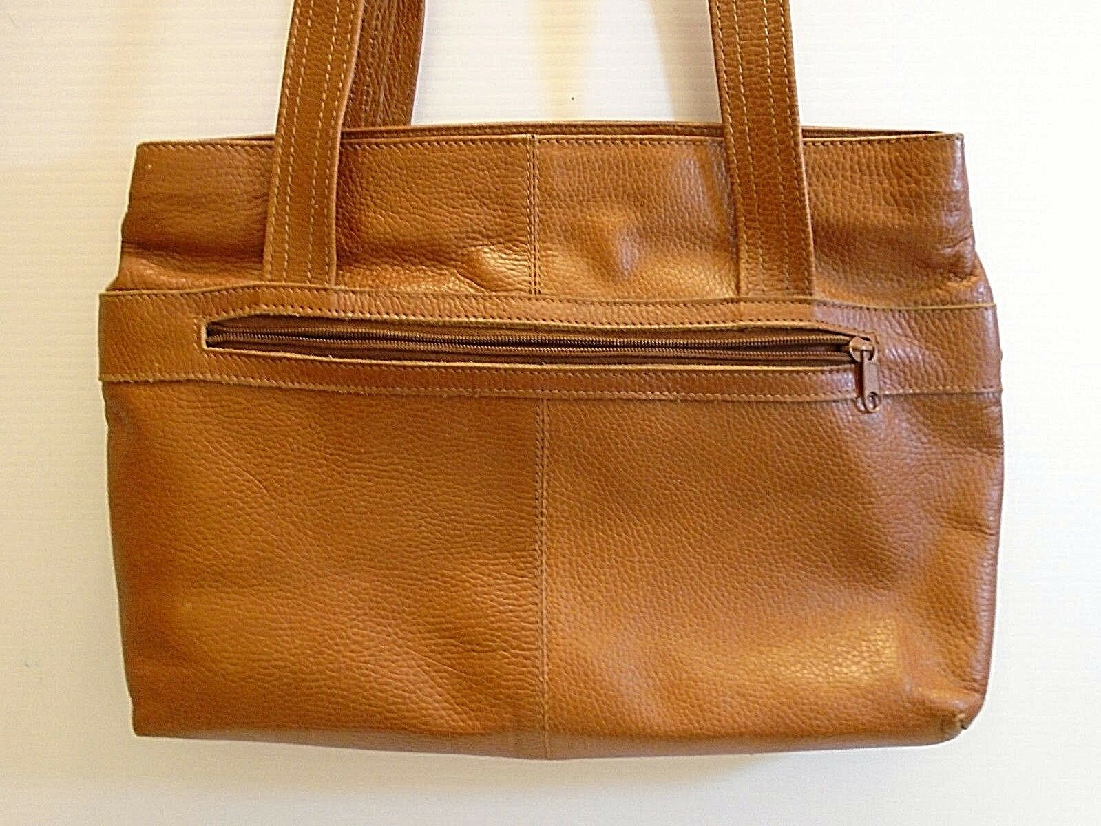 Vintage Fratini women's brown  leather Tote handb… - image 2
