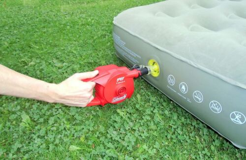 Coleman Battery Powered 4D Quick Pump Inflation Deflation Camping Caravan Home
