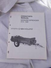 New Holland Model 213 329 Manure Spreader Original Operators Manual Sperry Nh