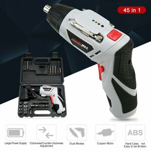 Electric-Cordless-Screwdriver-Set-Rechargeable-Wireless-45PCS-Drill-Kit-Tool-US