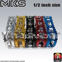 Mks (mikashima) Bm-7 Pedals, 1/2 Old School Bmx Black, Blue, Red, Gold, Silver
