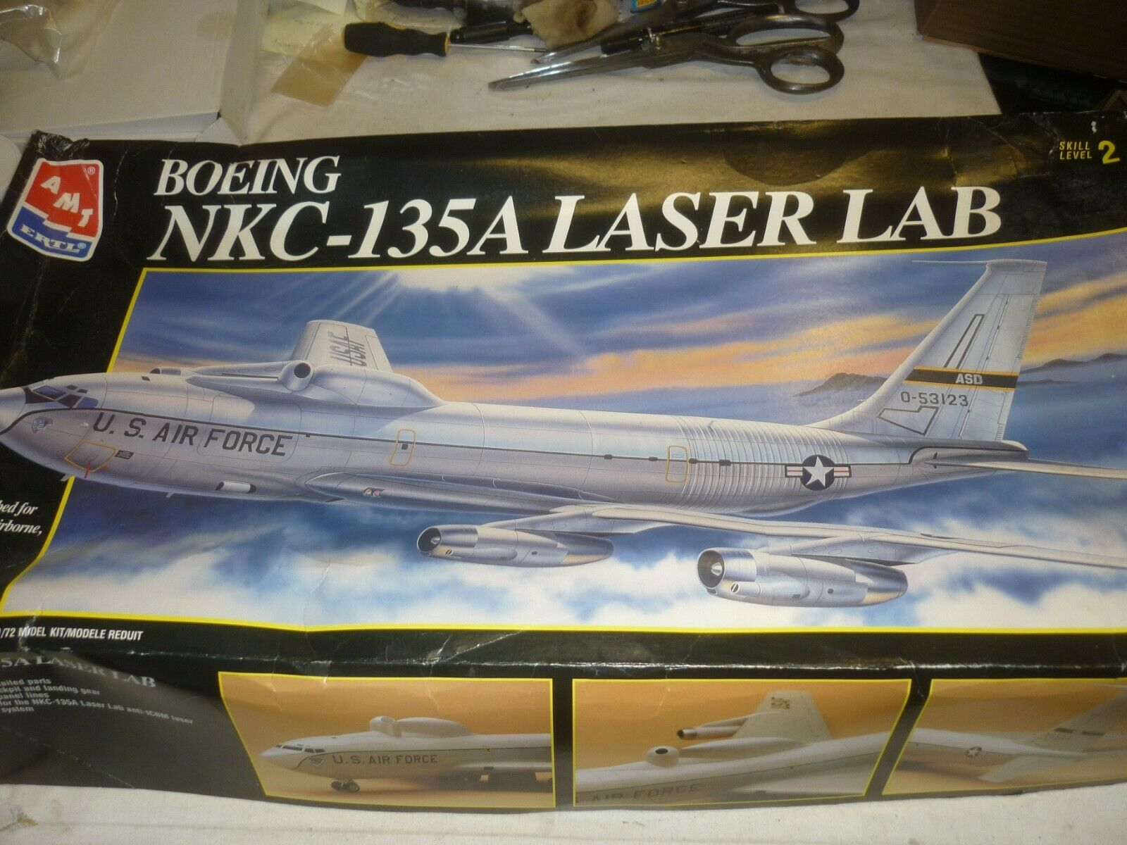 AMT ERTL un built plastic kit of a Boeing NKC 135A Laser lab,  boxed