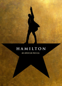 """Hamilton An American Musical Broadway promotional Poster 24x36/""""//60x90cm"""