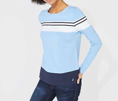 NWT Women/'s Nautica Colorblock Striped CrewNeck Knit Top XS S M XXL
