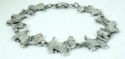 8 inch Adorable Cairn Terrier Bracelet antique silver plated 20.3 cm