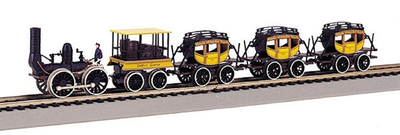 641 Coffret lokvagnar tåg vapeur DeWitt Clinton 1  87 HO