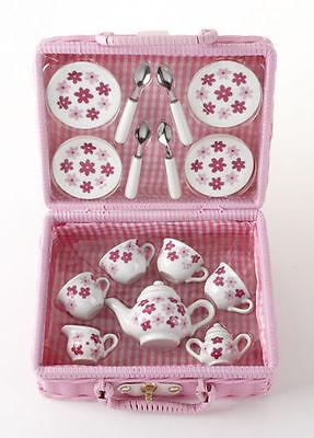 Children's Porcelain Tea Set for 4--Small Size Set-Pink Daisy's #8088-9