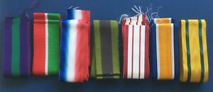 Full-Size-British-Military-Medal-Ribbons-Various-Campaigns-6-034-lengths-MEDRIB