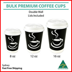 Image Is Loading Disposable Coffee Cups 8oz 12oz 16oz Takeaway Paper