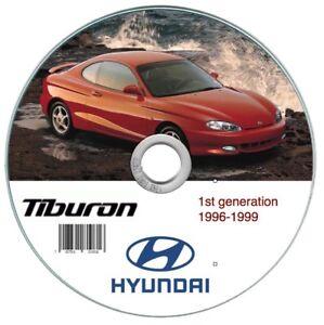2001 hyundai tiburon service shop repair manual set 01 (service.
