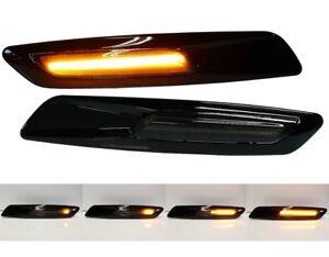 SCHWARZE LED KLARGLAS SEITENBLINKER BLINKER BMW 3er E46 LIMO TOURING 01-05 side