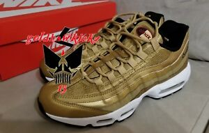 Nike Air Max 95 Premium QS Gold Bullet 918359 700 Metallic Gold ... 2ee4724fd