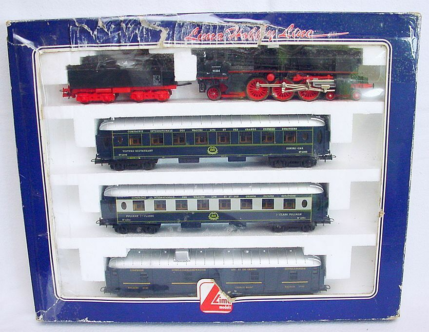 Lima Ho 1:87 Db Br 18 Pacific Locomotora A Vapor & 3x oriënt Express Wagon set MIB