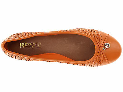 Sperry Top-Sider Ariela Women Ballet Flats Shoes (M) Orange Woven Size 9.5 - New
