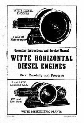 Witte Horizontal Diesel Engines Engine Motor Book Manual Ebay