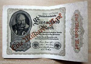 Eintausend-Mark-Banknote-vom-15-Dezember-1922-mit-Aufdruck-eine-Millarde-Mark