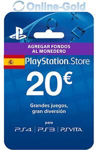 20-PlayStation-PSN-Prepaid-Key-20-Euro-Sony-PS3-PS4-PS-Vita-Tarjeta-Prepago-ES