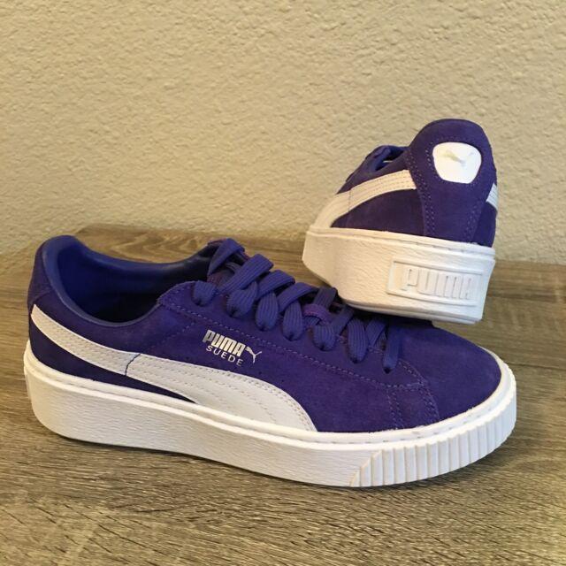 PUMA SUEDE CLASSIC Purple Liberty Blue White CLASSIC KIDS Size 5.5 Youth 65deb2f8f