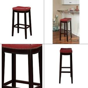 Marvelous Details About Claridge 32 In Red Cushioned Bar Stool Linon Seat Kitchen Counter With Square Andrewgaddart Wooden Chair Designs For Living Room Andrewgaddartcom